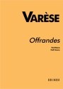 Offrandes for soprano and chamber orchestra score