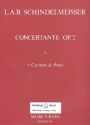 Concertante op.2 - for 4 clarinets and piano