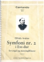 Symphony Eb major no.2 - for organ and brass instruments score