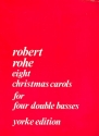 8 Christmas Carols - for 4 double basses score and parts