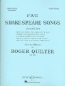 5 Shakespeare Songs op.23 for low voice and piano