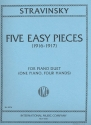 5 easy pieces - for 1 piano 4 hands