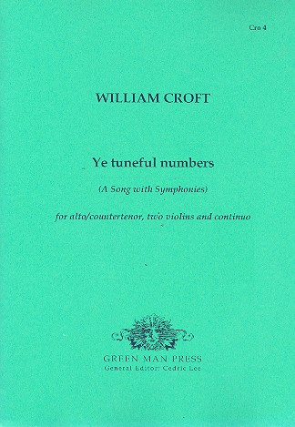 Ye tuneful numbers for alto (countertenor), 2 violins and bc parts