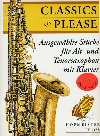 Classics to please (+CD) für 2 Saxophone (AT) und Klavier