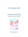 Four Dances for flute, oboe and clarinet score and parts