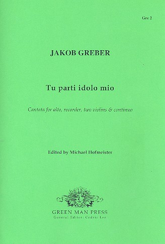 Tu parti idolo mio - for alto, recorder, 2 violins and Bc score and parts (Bc realised)