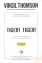 Tiger! Tiger! for mixed chorus and piano score