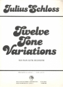 12 Tone Variations for 4 recorders SATB) score and parts